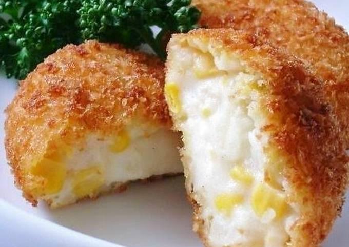 How to Make Appetizing Potato & Corn Cream Croquettes