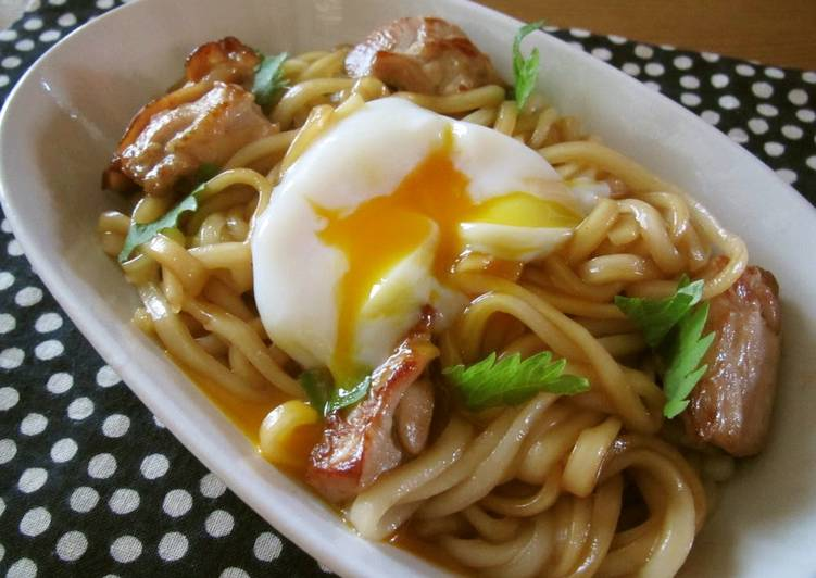 Sweet and Salty Butter and Soy Sauce Stir-fried Udon Noodles
