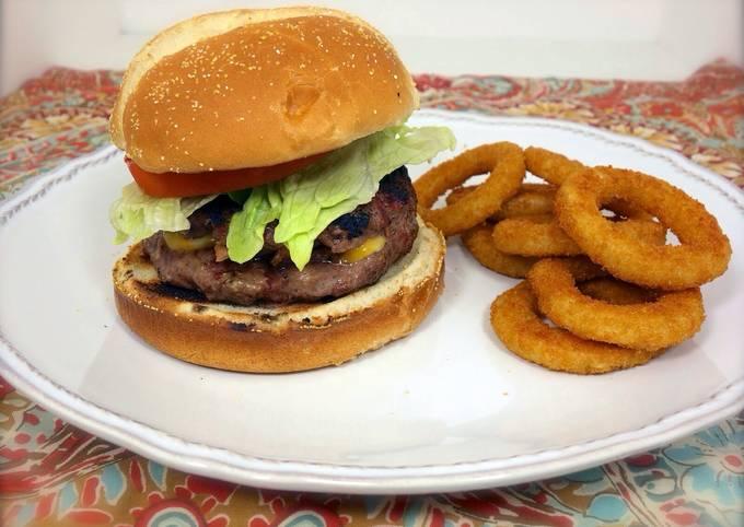 Bacon Mushroom Stuffed Cheese Burgers