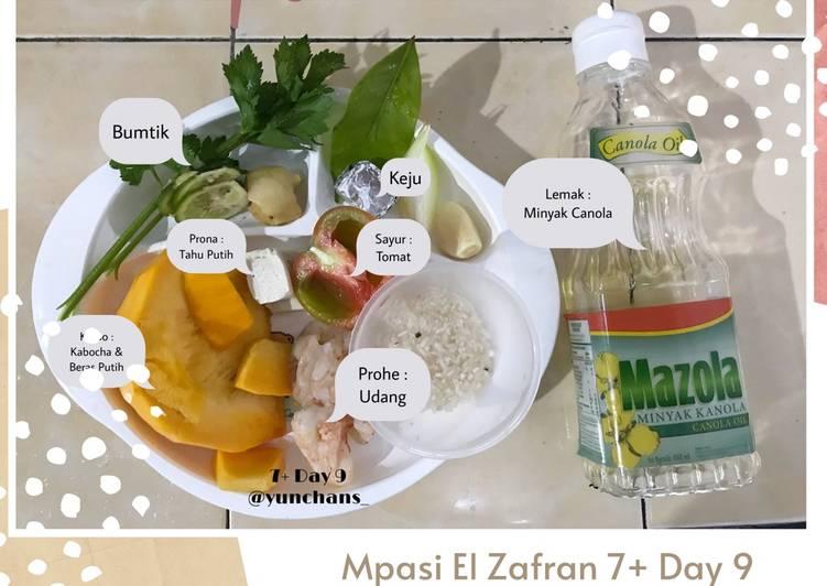 Mpasi 7+ Day 9 : Bubur Kabocha Udang Tahu