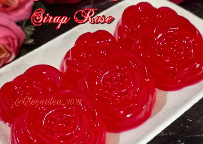 Agar -Agar Sirap Rose