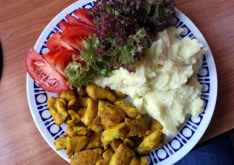 Chicken Breast with Tumeric (Kurkuma) and Dill