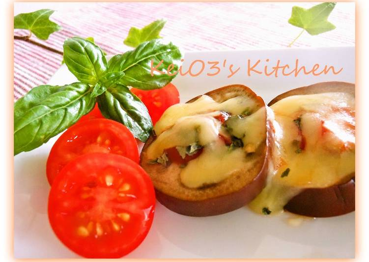 Pizza Style Eggplant - Easy in 5 Minutes