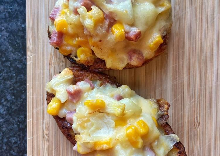La Recette Pas à Pas Pommes de terre farcie au jambon-fromage 🧀