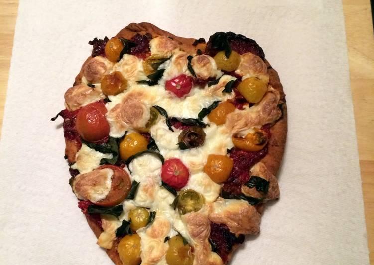 Garlic Naan Pizza