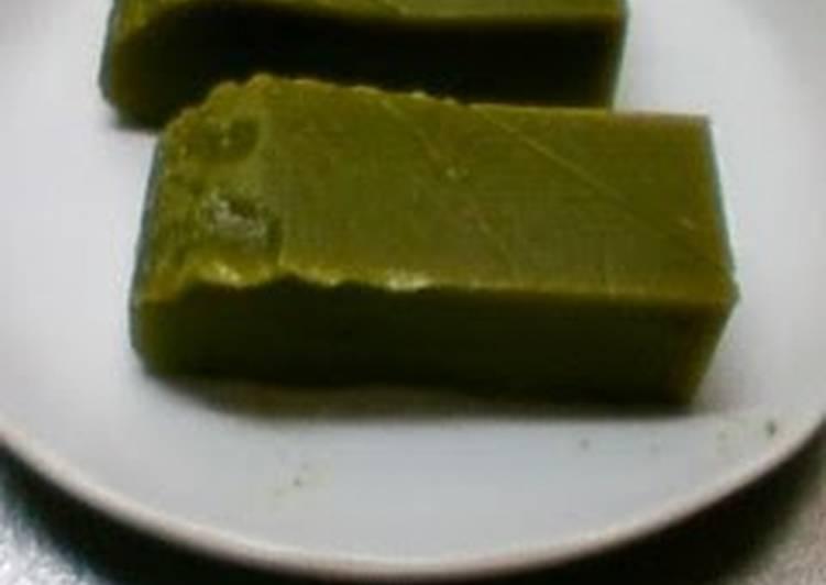 Easiest Way to Prepare Perfect Microwave Easy! Matcha Green Tea Uiro Steamed Cake