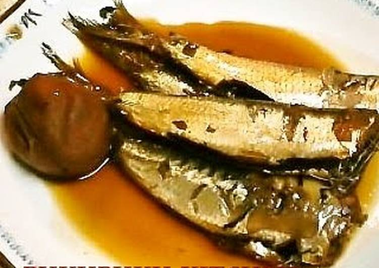 Tender Simmered Sardines with Umeboshi Pickled Plums