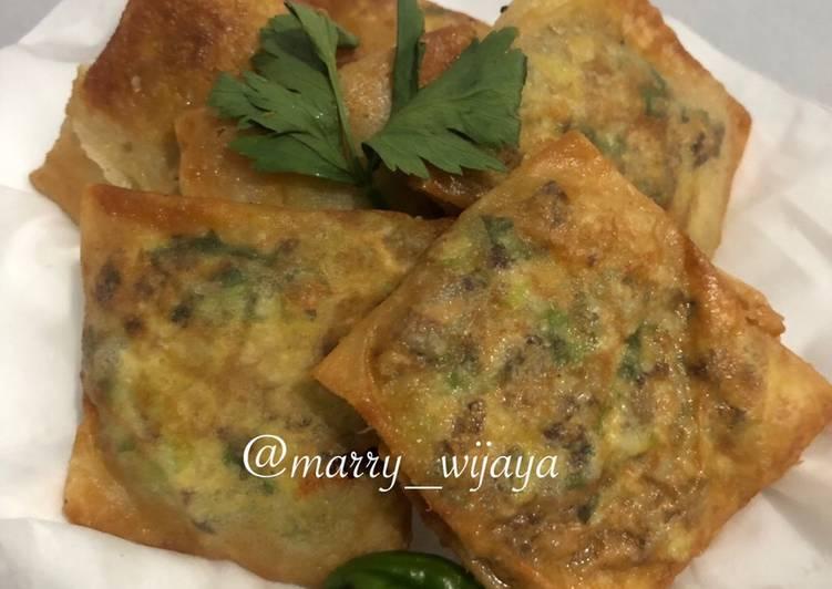 Martabak Telor Daging with Jamur