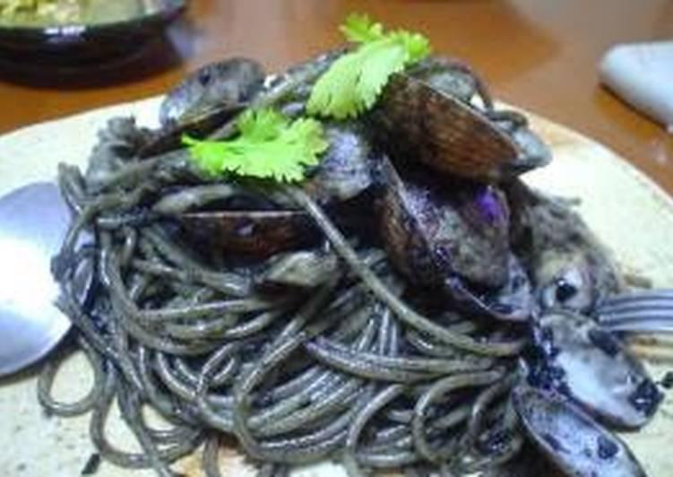 Recipe of Favorite Pitch Black Squid Ink Pasta