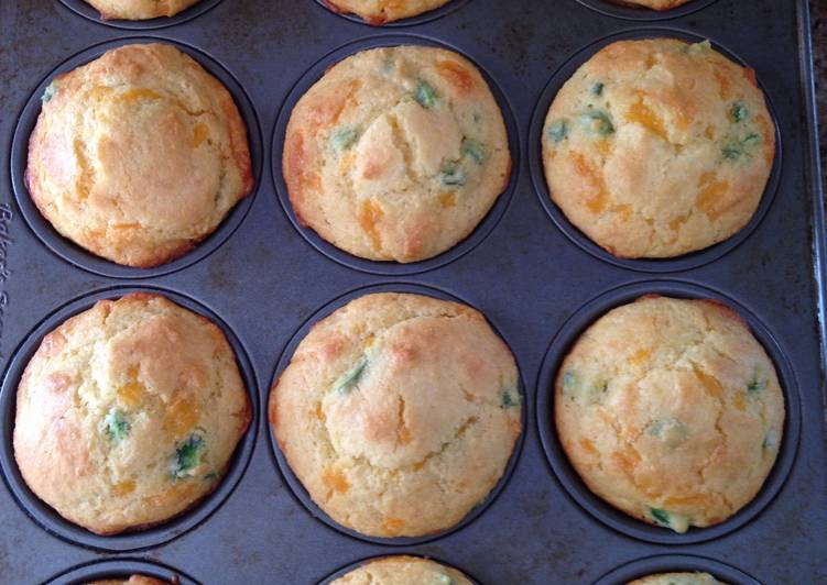 Simple Way to Make Perfect Jalapeno Cheddar Cornbread Muffins
