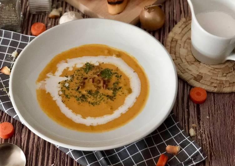 Sup Lobak Merah bersama Kentang dan Sosej - velavinkabakery.com