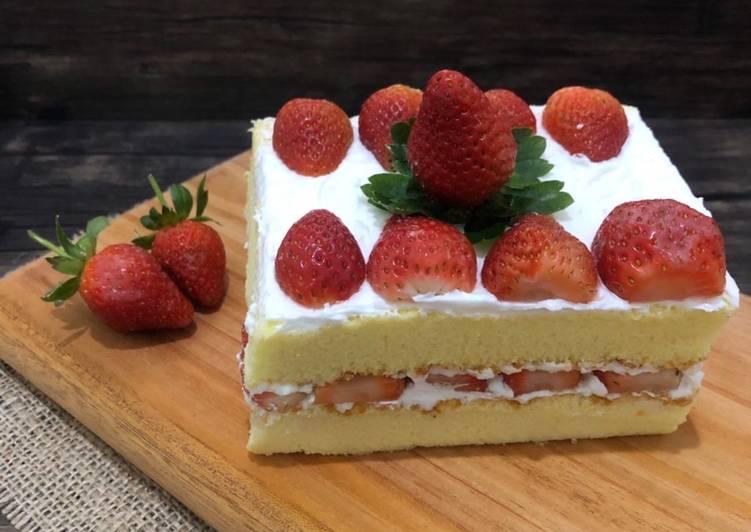 Strawberry shortcake ogura #homemadebylita