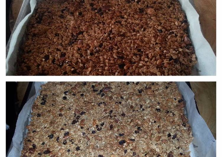 Bourbon treacle and vanilla granola
