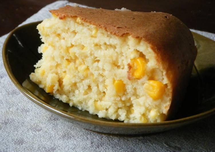 Okara Sweet Corn Cake - Laurie G Edwards