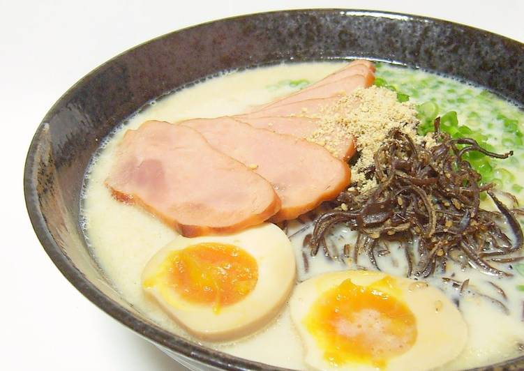 Step-by-Step Guide to Prepare Favorite Rich & Thick Tonkotsu (Pork Bone) Style Ramen