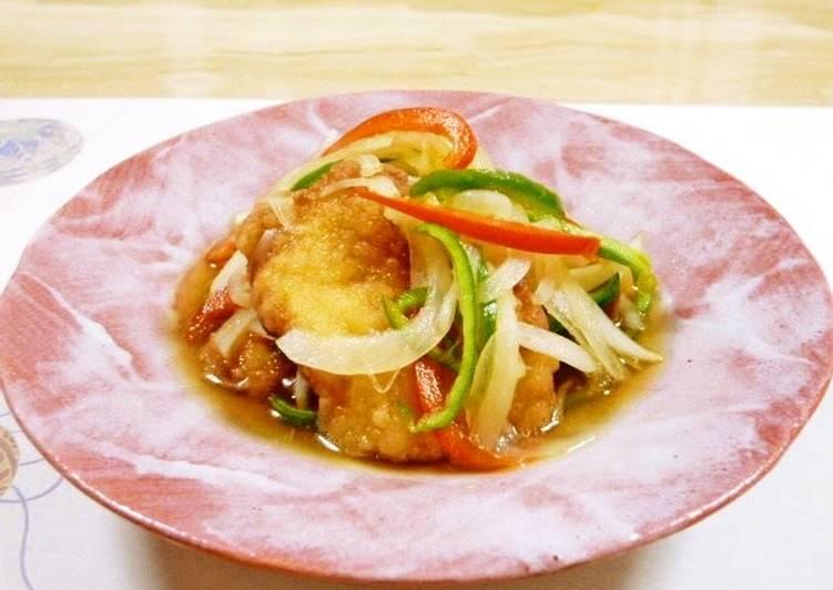 Tender Deep-Fried Yuzu Pepper Flavored Nanban Chicken Breasts - Laurie G Edwards