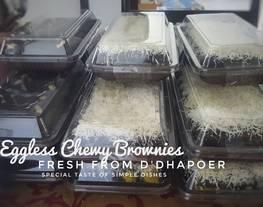 Eggless Chewy Brownies (brownies ekonomis)
