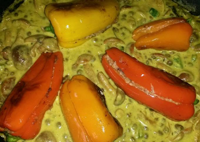 Sig's Stuffed Sweet Pepper in a Creamy Dhal Sauce