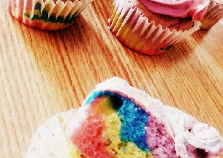 Recipe of Ultimate tye-dye cupcakes/cake and frosting