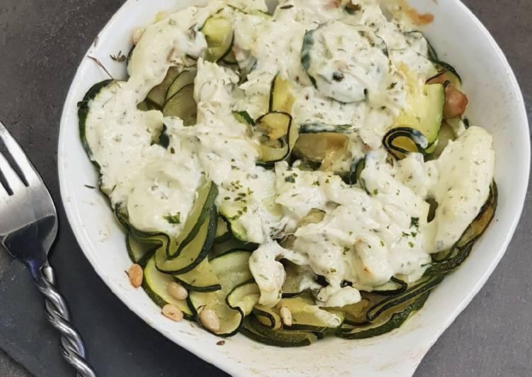Façon la plus simple Cuisiner Délicieux Petit gratin de courgettes au tartare
