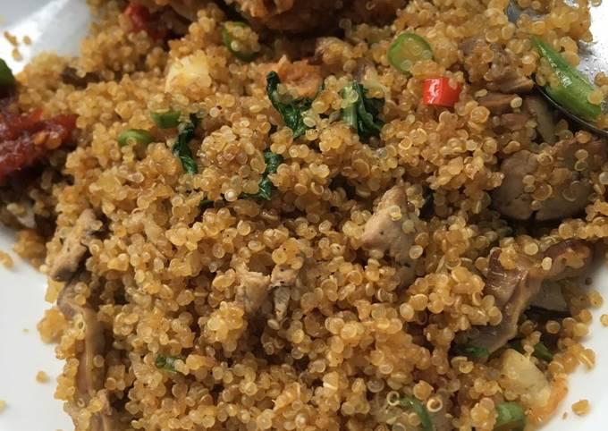 """Quinoa """"Nasi goreng"""" kampung"""