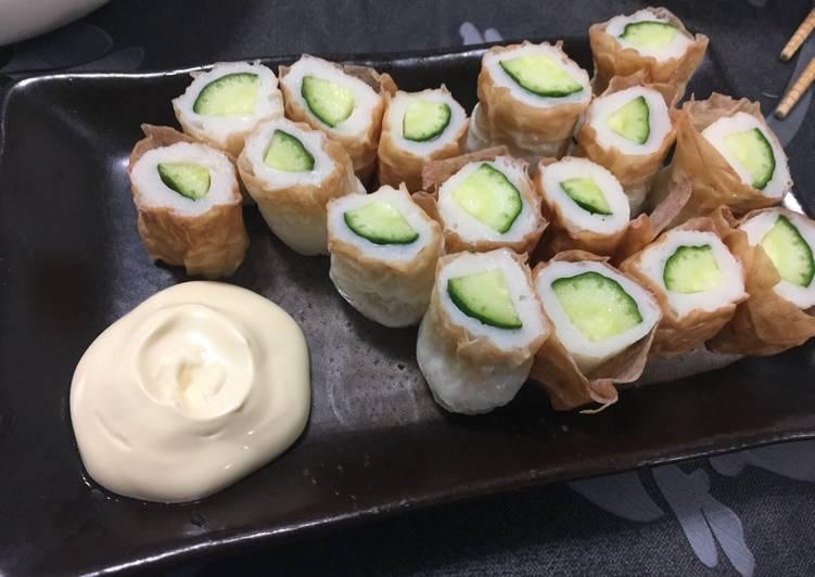 Recipe of Ultimate Cucumber in Chikuwa(Japanese Baked Fish Cake)