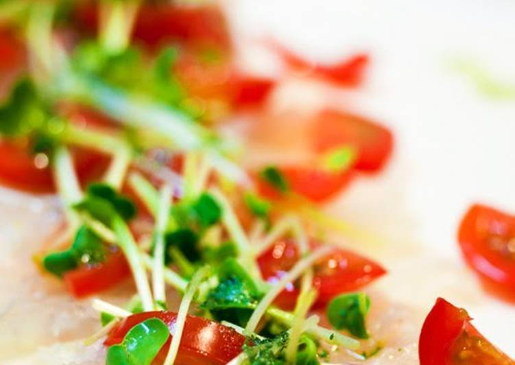 Going Green for Better Health By Dining Superfoods Red Sea Bream Carpaccio in 5 Minutes