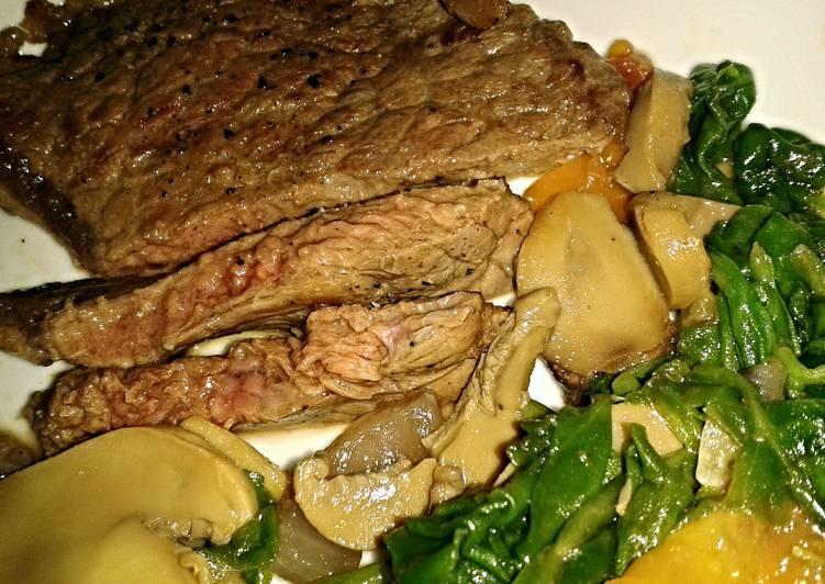 Recipe of Favorite Steak and spinach saute