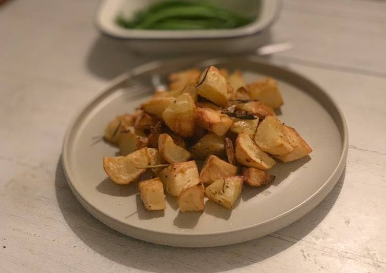 Try Using Food to Elevate Your Mood Rosemary and garlic roast potatoes
