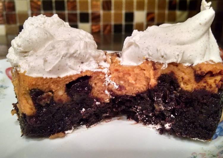 Brownie Pumpkin Pie Bars