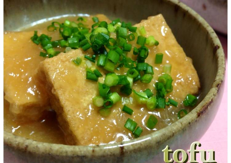 Easy Homemade Easy Simmered Atsuage with Grated Daikon Radish Recipe