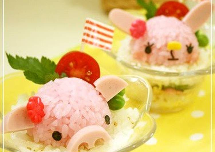 For Character Bentos: Animal Shaped Cup Sushi