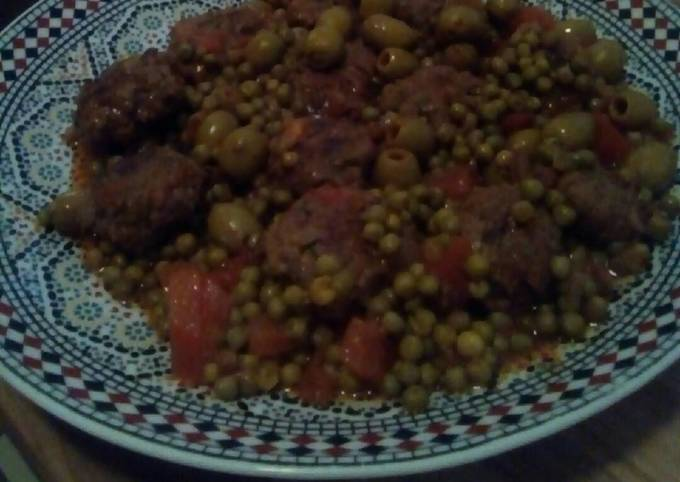 🍳Moroccan minced meat with peas dish (cooked in one pan)🍳