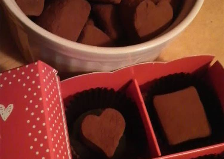 Recipe of Top-Rated Easy, Homemade Chocolate Truffle Blocks