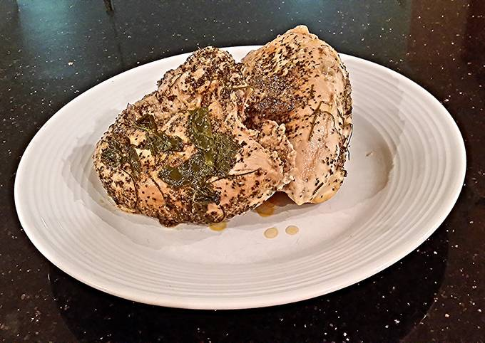 Recipe of Homemade Lemon Herb Butter Poached Chicken Breasts