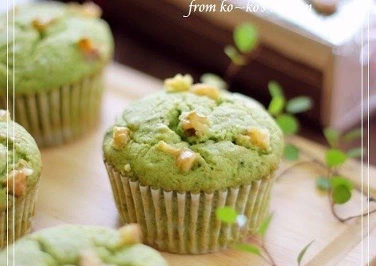 Matcha White Chocolate Muffins