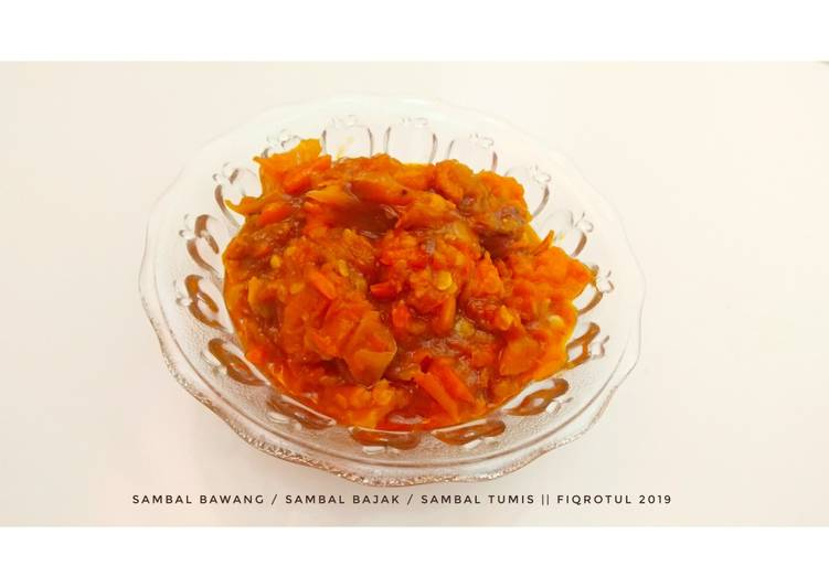 Resep Sambal bawang / sambal bajak / sambal tumis Yang Simple Enak