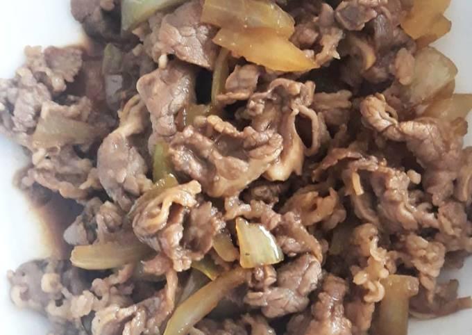 Beef Teriyaki (imitasi Yoshinoya)