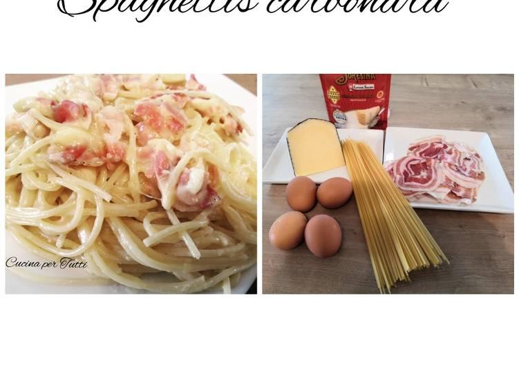 Véritable spaghettis carbonara