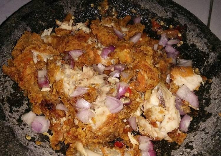 Ayam geprek simpel anak kos