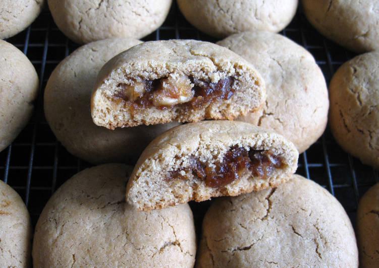 Dates & Walnuts Stuffed Coffee Cookies
