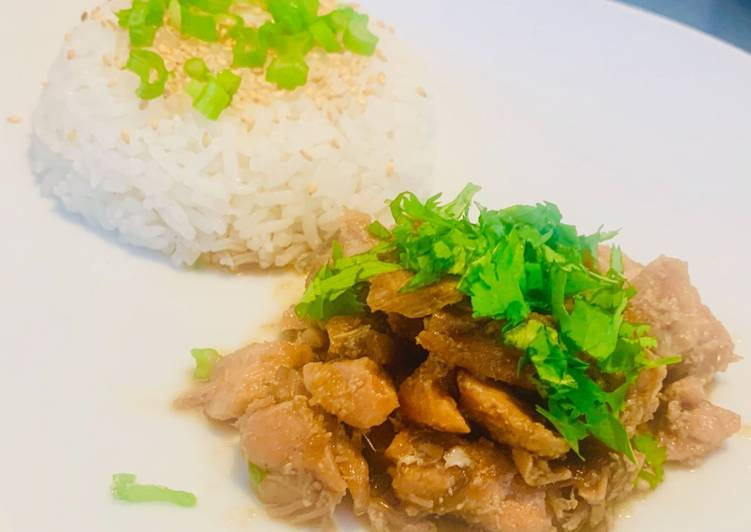 Easiest Way to Make Award-winning Rice with Salmon filets and Japanese sauce