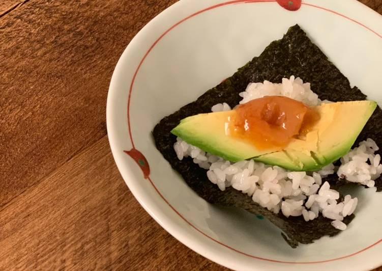 Recipe of Perfect Temaki Sushi, Avocado & Umeboshi