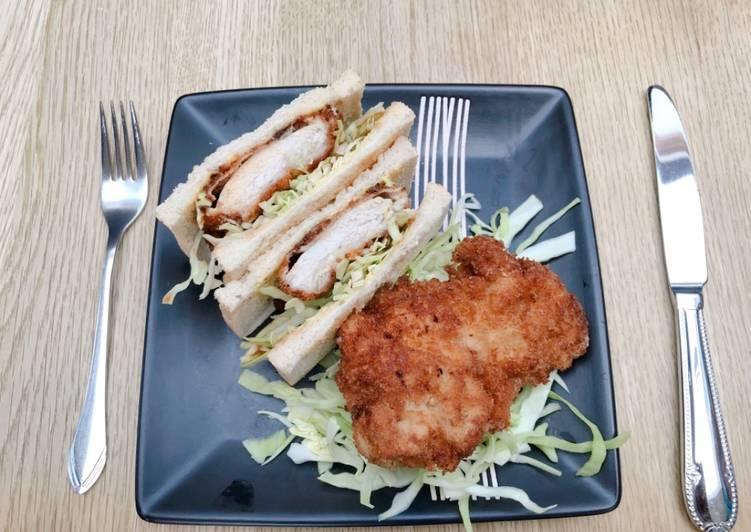 Japanese Chicken katsu sandwich