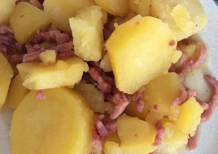 Comment faire Préparer Appétissante Pommes de terres aux lardons cookeo