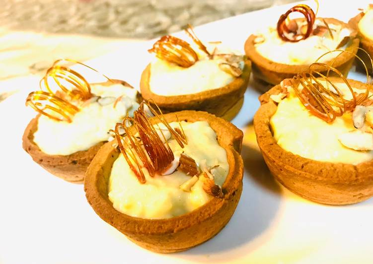 How to Prepare Speedy Kheer tart cups with sugar spiral