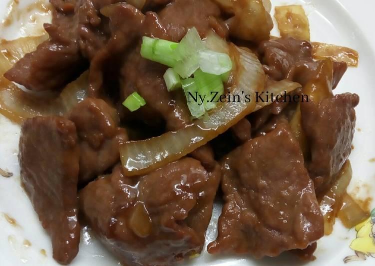 Daging sapi Kecap Inggris (Stir Fry Beef In Worcestershire sauce