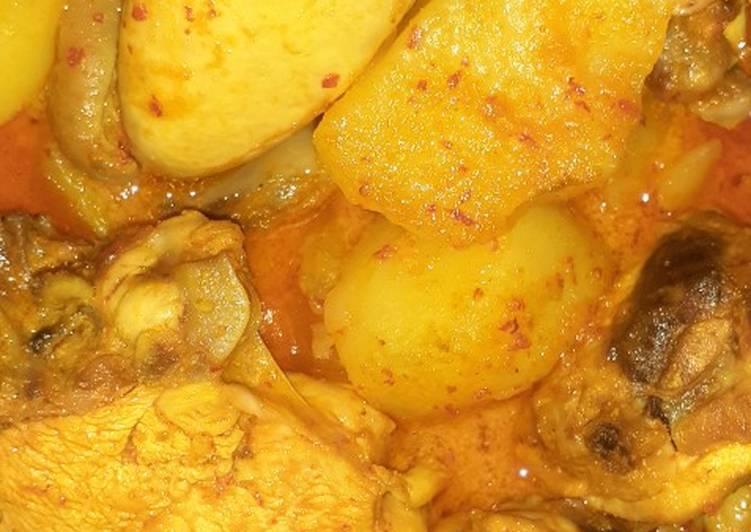 Begini Cara Membuat Gulai ayam dan kentang pedas Anti…