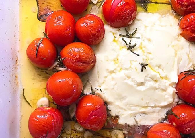 🍝 Tiktok'ın Yeni Trendi: Feta Pasta-Fırında Beyaz Peynirli Domatesli Makarna 😍