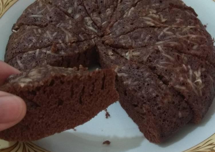 Bolu Chocolatos 5 Bahan (no mixer no oven no pengembang)